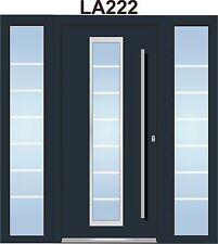 WeltHaus Haustür WH94  Aluminium mit Kunststoff +2Seitenteile LA222 Eingangstür