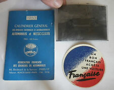 ancien calendrier 1953 épreuve nationales & internationales automobile & moto