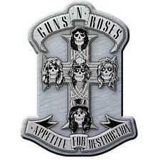 More details for guns n' roses appetite for destruction metal pin badge 40mm x 30mm (rz)