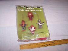 Vintage Bucilla Needlecraft Christmas Ornament Kits Embroidery Wizard Of Oz