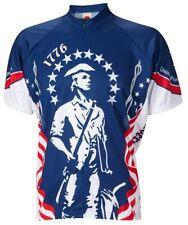 1776 USA Minutemen Cycling Jersey World Jerseys Men's with Socks bike bicycle