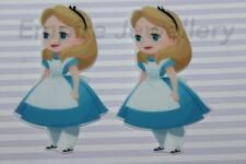 5 x Alice in Wonderland Acrylic Flatback Cabochon XL 72x40mm Drink Me Tea Party