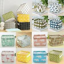 Foldable Storage Boxes Collapsible Folding Box Fabric Cube Basket Home Organizer
