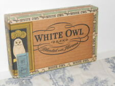 Vtg. White Owl Cigar Box