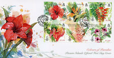 Pitcairn Islands 2018 FDC Colours Paradise Hibiscus 6v M/S Cover Flowers Stamps