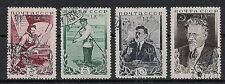 RUSSIA,USSR:1935 SC#4573-76 Used 60th birthday of M. Kalinin
