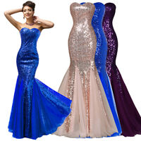 Grace Karin Sequins Cocktail Party Formal Mermaid Prom Dress Wedding Gown