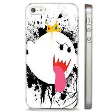Rey Boo Super Mario Nintendo claro caso cubierta teléfono se ajusta iPHONE 5 7 8 X 6
