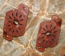 2x Sockel brown braun z. Bau Nixie Uhr IN12 IN15 IV22 30254 3025 Röhren Arduino