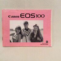 CANON EOS 100  INSTRUCTION BOOK