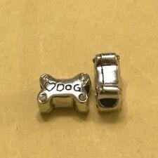 'Love DOG' Bone Bead Charm Fits European Bracelets & Necklace