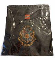 """Lego Harry Potter Crest Cinch Sack Drawstring Backpack Book Bag NEW 14""""x16"""""""