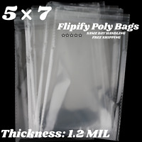 200 Clear Cello Bag 3 34 x 6 34 inch Self Sealable Resealable OPP Product Bag Acid Free Clear Pastic Packaging