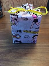 Betty Boop cotton fabric Handmade (W/Tissue) Box Cover or as a gift bag