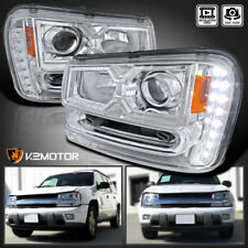 2002-2009 Chevy Trailblazer SMD LED DRL Projector Headlights Left+Right