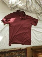 Corneliani Burgundy Polo 100% Matt Silk 48 NEW PRICE €300