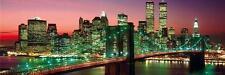 New York : Manhattan Colour - Midi Poster 91.5cm x 30.5cm (new & sealed)