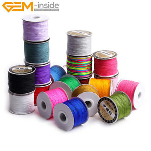 0.8mm 120 Meters Nylon Beading Cord Braided Knotting Cord Jewelry Making 1 Piece