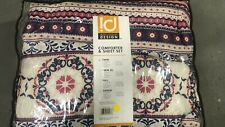 Twin Size Comforter and Sheet Set Micro Fiber Pink Intelligent Design