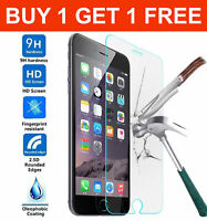 2 Apple iPhone 6 or 6s Transparent Full Coverage Tempered Glass Screen Protector