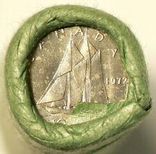 1972 Canada 10 Cents Original Brink's Roll 50 Uncirculated #1373