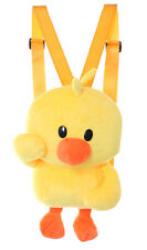 LB-6040 Duck Yellow Padded Funny Plush Backpack Women's Bag Kawaii