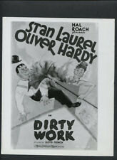 LAUREL & HARDY PHOTO - 1933 DIRTY WORK - HAL ROACH SHORT - 1960s REPRINT