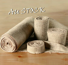 1M Hessian Jute Burlap Ribbon Vintage Wedding Table RunnerChair Sash Decoration