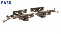 Diamond Frame Wagon Bogies OO/HO kit Parkside PA38
