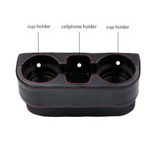 Black Dual Car Cup Holder Seat Console Catch Mount Phone Storage Box Catcher New