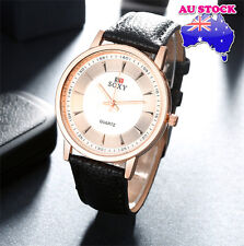 Black Leather White Golden Luxury Classic man Wrist Watch