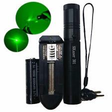 Military Green 1mw 532NM Laser Pointer Lazer Pen Visible Beam Burn+18650 Battery