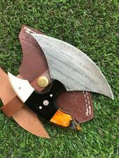 CUSTOM HANDMADE TWIST DAMASCUS STEEL ULU KNIFE X 13