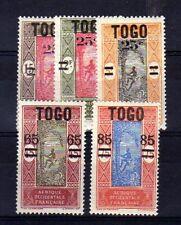 TOGO n° 119/123 neuf avec charnière