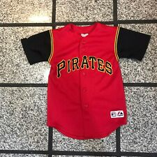 Vintage Pittsburgh Pirates #2 Jack Wilson Sewn Red Majestic Youth M Jersey!!