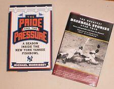 2 Baseball Books: The Pride &  Pressure NY Yankees & Greatest Baseball Stories