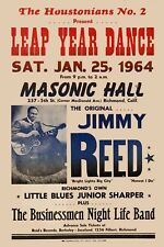 Blues: Jimmy Reed at the Masonic Hall Concert Poster 1964  12x18