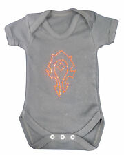 Horde or Alliance Warcraft World Of Sparkle Baby Grow Bespoke T-Shirt Party Girl