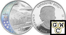 2008 Home of the 2010 Olympic Winter Games Proof $25 Hologram Silver (12099)