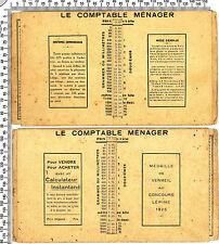Le comptable ménager. Calculateur Instantané. Concours Lépine. Vers 1930