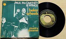 """PAUL MCCARTNEY & WINGS - HELEN WHEELS - 45 GIRI 7"""" FRANCE PRESS"""