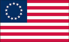 "2 qty of 3""x5"" Flag Decal Sticker - AMERICAN BETSY ROSS FLAG 13 STAR"