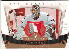 Cam Ward 2006 07 Fleer Hot Prospects Materials 3 Color Patch /10 Hurricanes