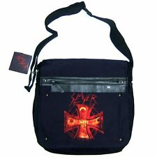 SLAYER EYES & TEETH IRON CROSS LOGO BLK MESSENGER BAG PACK NEW NWT OFFICIAL