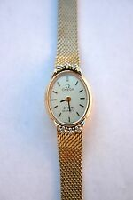 Vintage Omega De Ville Quartz Ladies Watch 10 K Gold Filled Serial # Authentic