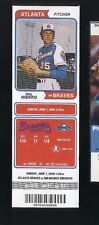 6/7/2009 MIL Brewers @ ATL Braves Ticket - Tommy Hanson Major League MLB Debut