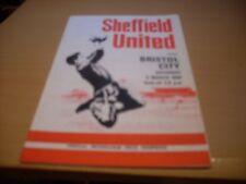 sheffield united v bristol city 1968/69 season with free postage