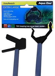 Aqua One Aquarium Tongs XL 85cm Length - Extra Large EasyReach Grabber Fish Tank