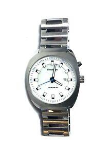 Freestyle Men's Phospher Stainless Steel Waterproof Watch Silver w/ White Face