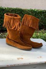 EUC Minnetonka Suede Leather Moccasins Size 8